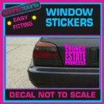 COUNCIL ESTATE PRINCESS FUNNY JOKE CAR WINDOW VINYL STICKER DECAL GRAPHICS